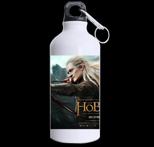 Custom The Hobbit legolas and tauriel Thranduil 100% superstrong recycled aluminum Sports Water Bottle Mug 13.5 OZ (Twin Sides) by LiangZP Picture