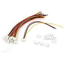 RC Modelo 2S Lipo Batería Enchufe Cargador Cable Conector 15cm 10 Piezas