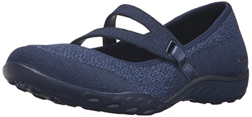 Skechers Women Breathe-Easy-Lucky Lady Mary Jane, Blue (Nvy), 7 UK 40 EU