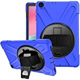 SYNTAKS Galaxy Tab A 10.1 2019 Case(Model: SM-T510 SM-T515),[360 Degree Swivel Stand/Hand Strap] Slim Heavy Duty Shockproof Rugged Full Body Protective Case (blue)