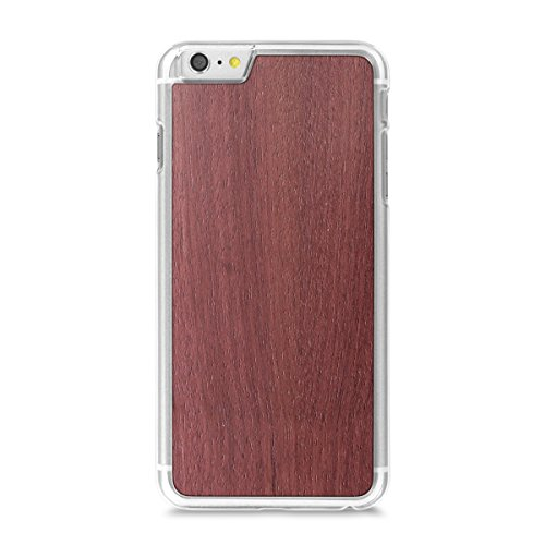 Cover-Up WoodBack bois véritable transparents pour iPhone 6 / 6s Plus - bambou - Purpleheart