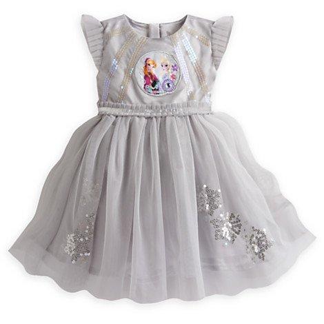 Disney- Die Eiskönigin - völlig unverfroren - Partykleid für Kinder - funkeln und schimmern ! Motiv von Anna und ELSA (5-6 ()