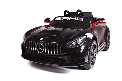 Babycar Mercedes GT4 AMG ( Nero ) Nuova Versione Macchina Elettrica per Bambini Ufficiale con Licenza 12 Volt Batteria con Telecomando 2.4 GHz Porte Apribili con MP3