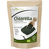 Organic Chlorella Powder (200 grams) | MySuperFoods | Incredibly High Chlorophyll Content | Bursting with Nutrients | Certified Organic | Healthy Edible Algae | Add To Drinks and Smoothies