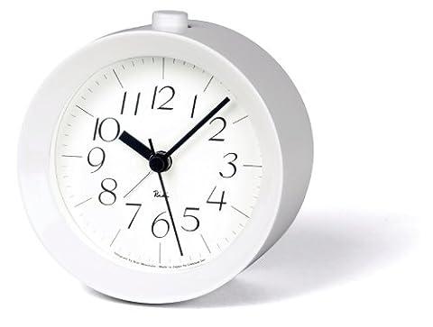 Lemnos RIKI Alarm Clock weiss - Design-Wecker aus Japan mit