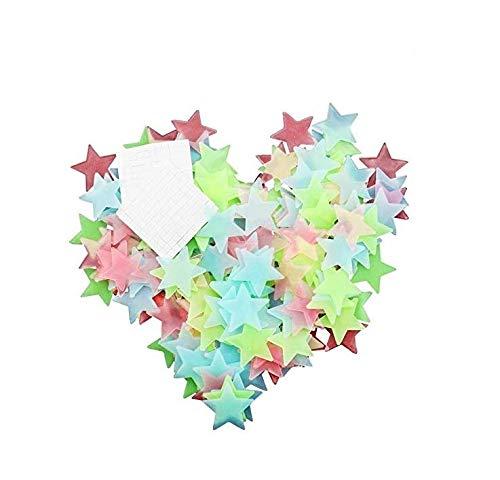 200Stück Glow in the Dark Wand Sticker Sterne Aufkleber für Home Decke Wand Dekorieren Baby Kids Geschenk Best Geschenke Kinderzimmer von kaifang