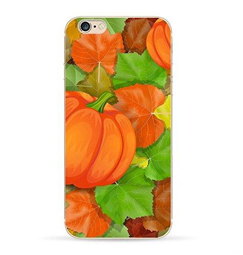 iPhone 8Plus/iPhone 7Plus Schutzhülle (14cm), blingy Transparent Klar Urlaub Design Schutzhülle aus Weichem Gummi für iPhone 8Plus/iPhone 7Plus, Pumpkin Patch - 14 Klare Patches