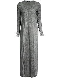 Fast Fashion - Cardigan Manches Longues Petit Ami Plaine Maxi Ouvert Long - Femmes