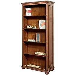 Librería de madera en estilo clasico, estantería de salón, mueble biblioteca de despacho