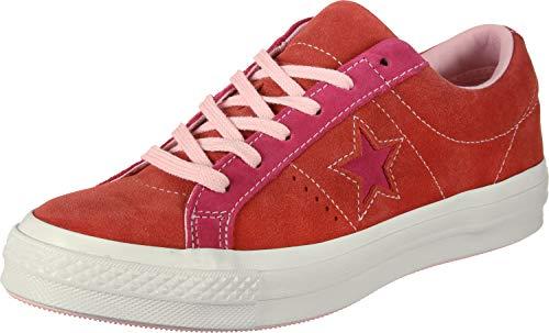 Erwachsenen-pop-star (Converse Unisex-Erwachsene Lifestyle One Star Ox Sneakers Mehrfarbig (Enamel Red/Pink Pop 603) 44.5 EU)
