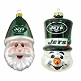 NFL New York Jets Santa Gap und Top Hat Schneemann Ornaments