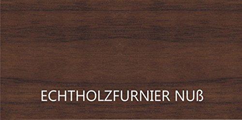 KITOON Grundmodul Nr. 3 (B 57 H 57 T 35 oder 48 cm) – Tür rechts, Tiefe 35 cm, Nuß geölt (Echtholzfurnier) - 6