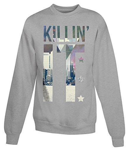 Billion Group | Killin'it With View | City Collection | Women's Unisex Sweatshirt Gris