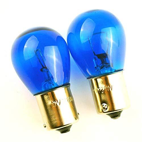 2 X Blue Vision P21 W BA15s 12 V 21 W lampada a incandescenza a sfera fendinebbia retromarcia, luce di marcia diurna, luci di marcia diurna, luci di posizione – Hallenwerk