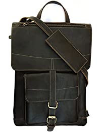 Chalk Factory Genuine Leather Convertible Backpack / Messenger Bag With Detachable Charger Pocket Custom Made...