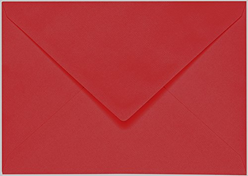 Artoz 1001 10737418-210 Envelopes with Watermark, 100 g, Pack of 10 E6 red