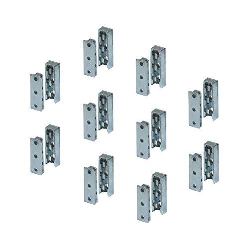 Gedotec Möbelverbinder verdeckt Bettverbinder SOLID Korpusverbinder aus Metall | Einhänge-Verbinder Beschlag für Betten, Möbel & Metallbau | Tragkraft bis 250 kg | 25 Set - Holzverbinder unsichtbar -