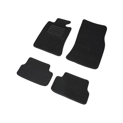 DBS 1763960 Tapis Auto - Sur Mesure - Tapis de sol pour Voiture - 4 Pièces - Antidérapant - Moquette noir 900g/m² - Finition Velours - Gamme Star