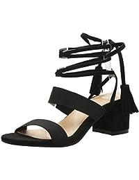 COOLCEPT Mujer Moda Cordones Sandalias Punta Abierta Slingback Tacon Ancho Zapatos