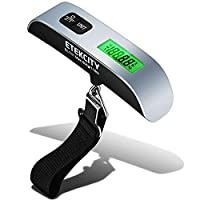 Etekcity Upgraded Digital Luggage Scales, Travel Scales for Suitcases and Bags, 50KG, with Auto-Off and Tare Function, Temperature Sensor Included, 2 Year Warranty