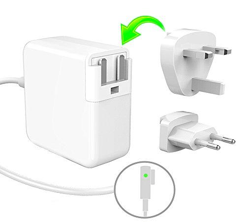 """60W Magsafe Power Adapter, Macbook Pro Netzteil Notebook Ladegerät für For Apple Macbook Pro 13"""" (Ende 2010 bis Mitte 2012), MacBook 13"""" (Ende 2009 bis Mitte 2010), Modelle A1181 A1278 A1184 A1330 A1342 A1344 Ladekabel - 16.5V 3.65A (EU & UK Plug)"""