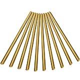10 Pieza sólido redondo barra de cobre barra de metal 3 mm x 100 mm