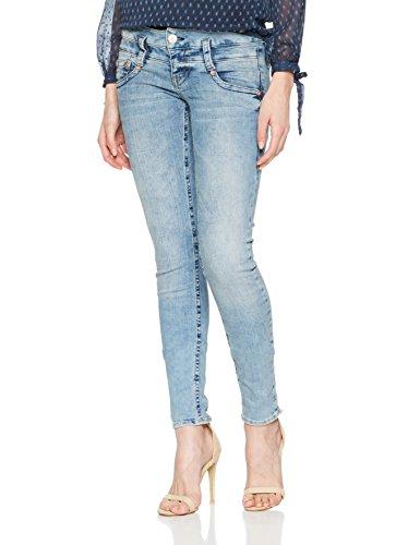 Herrlicher Damen Jeans Pitch Slim, Blau (Crease 042), W29/L32 (Herstellergröße: 29)