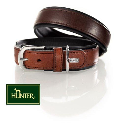 hundeinfo24.de Hunter Halsband Virginia 65Leder, Large, Braun