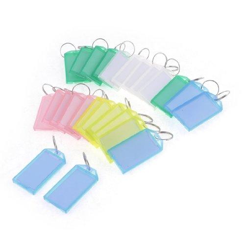 sourcingmapr-25-pz-multicolore-plastica-chiave-id-etichette-con-2cm-dia-anello-portachiavi