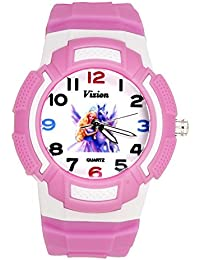 Vizion Analog Multi-Color Dial (Princess of Unicorns) Cartoon Character Pink Watch for Girls- 8565AQ-4-1