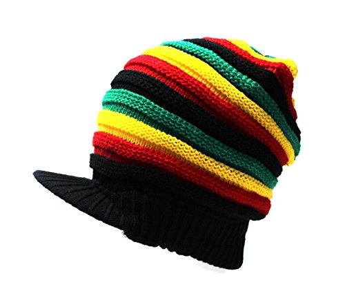 Visor Beanie Schirmmütze Mütze Schirm warme Ohren Ohrenschutz Jamaica (Jamaika Kostüm Kinder)