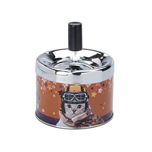 Teo Jasmin - Aschenbecher-Schieber Hund Bulldogge - Metall -