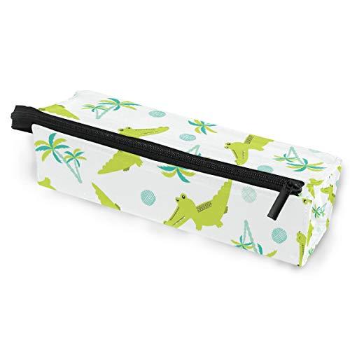 Sonnenbrillen Soft Protector Box Rhombus Federmäppchen Stifttasche grün Krokodil Multifunktionstasche mit Reißverschluss für Studenten, Kinder, Teenager, Mädchen, Frauen, Männer, Jungen