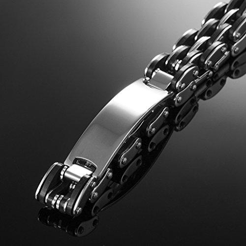Jiayiqi Bracelet Chaîne Réglable Bracelet Poignet à Maillons Acier Inoxydable Hommes No.7