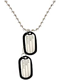 Gadget Deals Multicolour Metal Military Locket Dog Tag Pendant with Chain for Boys