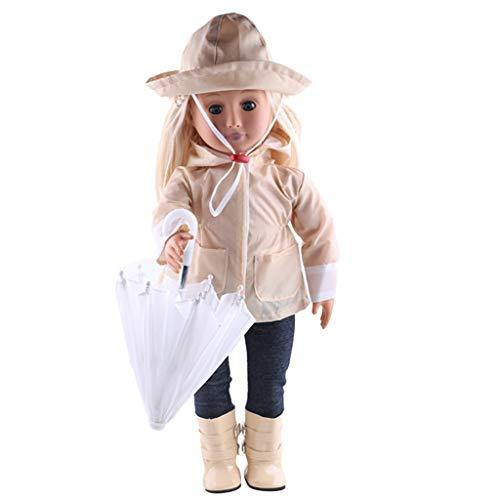 Chelsea-zubehör-set (Zolimx Puppenregenmantel 6 Stücke Set, Kleidung Hut Pullover Jeans Anzug für American Dolls 18 Zoll Zubehör Mädchen Spielzeug)