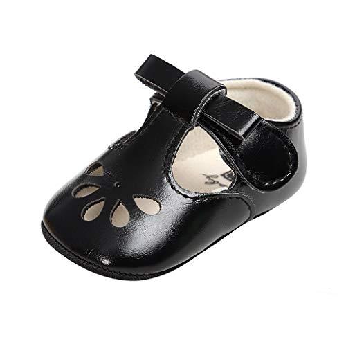 Baby Boot Gurtband Mode Spitze Hausschuhe Kinder Schuhe, Baby mädchen Knoten heiligen Mode Haken & Loop Kleinkind erste Wanderer Kind Schuhe,Schwarz 13 - Schuhe 9t Schwarze