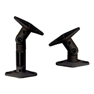 Brateck - Staffe per altoparlanti montabili in due modi, colore: Nero