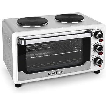 Klarstein Omnichef 23HW Autonome Plaque scellée Blanc - Fours et cuisinières (Cuisinière, Blanc, Rotatif, Devant, 1,1 m, Plaque scellée)