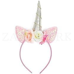 ZADAWERK® Serre-tête - licorne - rose - déguisement enfant anniversaire fille