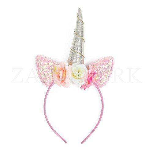 ZADAWERK - Haarreifen - Einhorn (Rosa)