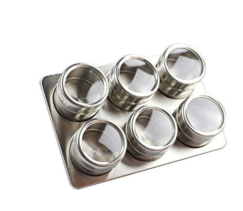 CAOLATOR boîte épicé en acier inoxydable pot assaisonnement /bouteilles de épices /Sel sucre Poivrière Boîte de Épices de rangement