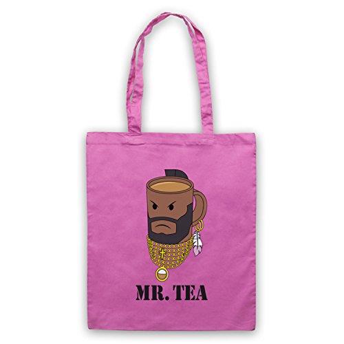 Mr Tea Graphic Illustration Umhangetaschen Rosa