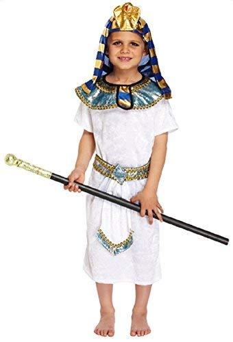 (Fancy Me Jungen 4 Stück Ägyptischer Pharao Historisch Büchertag Kostüm Kleid Outfit 4-12 Jahre - Weiß, 7-9 Years)