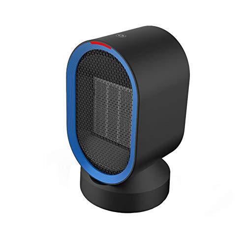 QWE Calefactor Cerámico De 600 Vatios, con Ventilador De Oscilación Automático, Protección contra Sobrecalentamiento E Inclinación, Mini Calefactor Portátil Calentamiento Rápido,Black