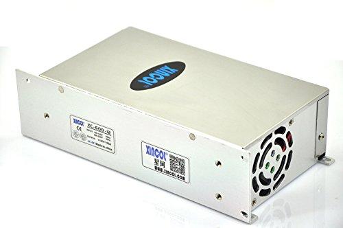 XINCOL 12V 50A 600W Transformador de Potencia, Transformador de Voltaje, Fuente de Alimentación para la Tira de LED