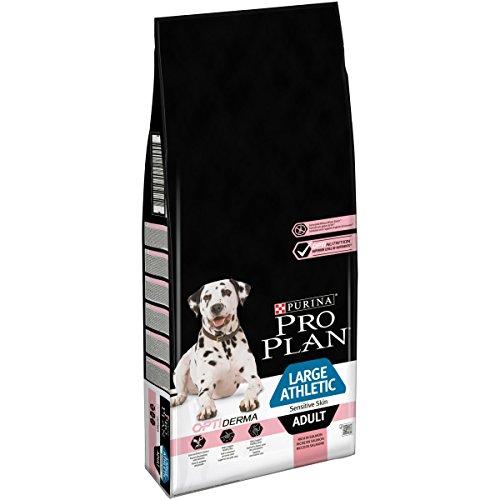 Pro Plan Purina Dog Hundetrockenfutter, Sensitive Skin, mit Optiderma, Reich an Lachs, Large Athletic Adult, 1er Pack (1 x 14 kg) Beutel