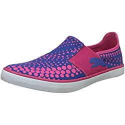 Puma Women's Nu Ballet Dp Beetroot Purple and True Blue Ballet Flats -