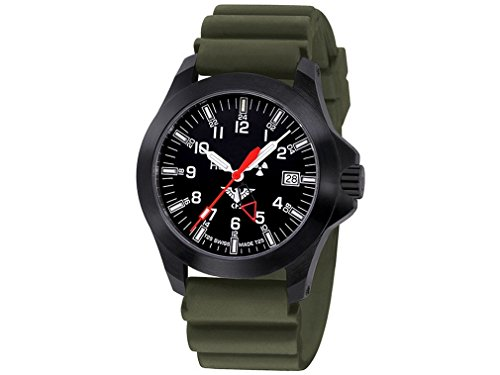 KHS Mens Watch Black Platoon GMT LDR KHS.BPGLDR.DO