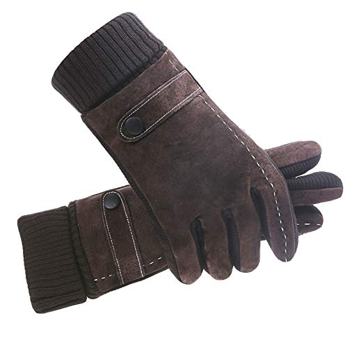 41bdJTdBosL. SS500  - Gloves Suede Male Winter Thicken Velvet Outdoor Cycling Riding Touch Screen Keep Warm Cotton Cold Protection GAOFENG